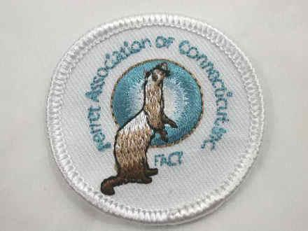 Ferret Association Embroidered Iron On Patch Ferret Treasures Store