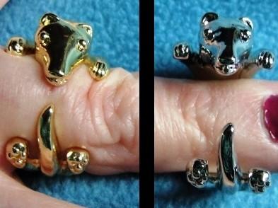 Ferret Wrap Ring - Two Colors Ferret Treasures Store