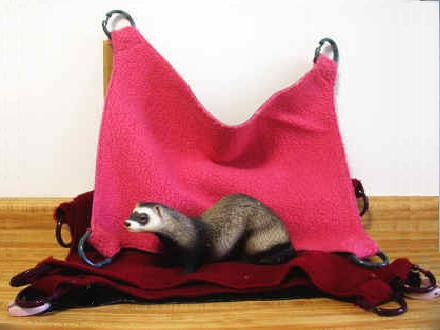 Large Ferret 2 Sided Hammock Ferret Treasures Store