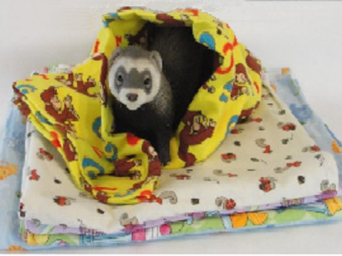 Ferret Flannel Snuggle Blanket Ferret Treasures Store