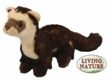 Living Nature Ferret Polecat Plush Ferret Treasures Store