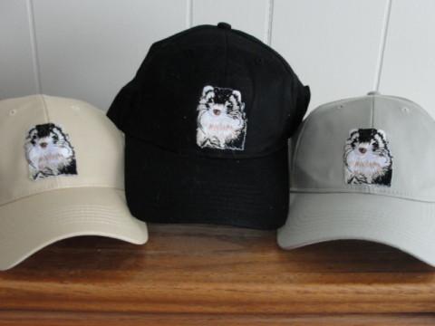 Baseball Hat - Embroidered Ferret Emblem Ferret Treasures Store
