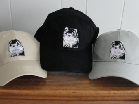 Baseball Hat - Embroidered Ferret Emblem Ferret Treasures Store