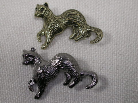Leaping Ferret Pins